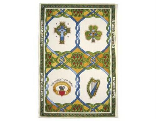 Emblems of Ireland Tea Towel